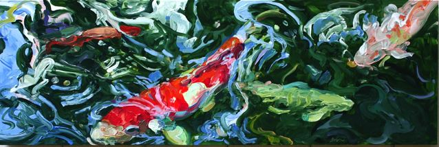 Red and White Koi 2